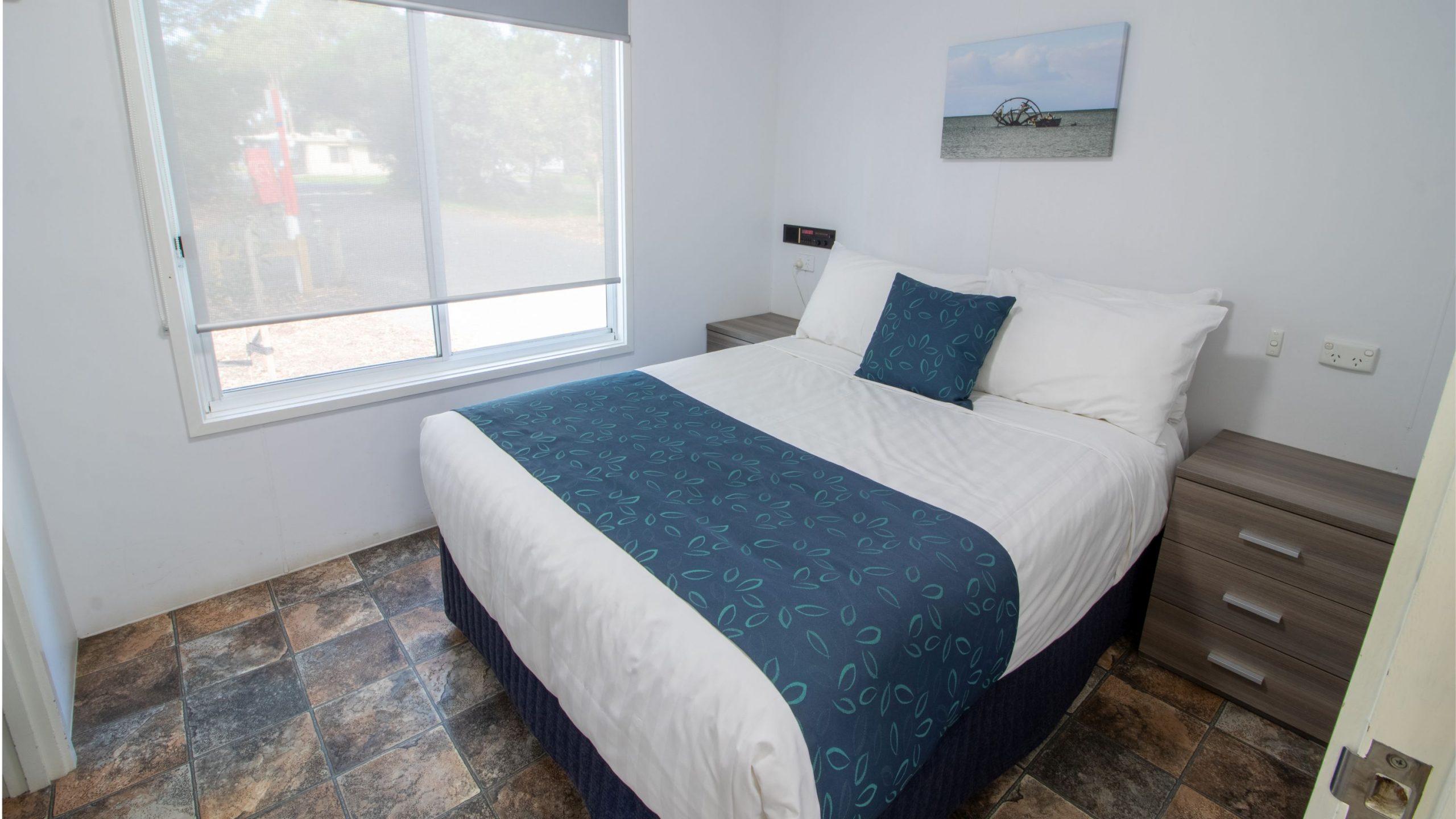 Standard Cabin master bedroom